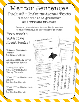 Mentor Sentences - Five MORE Weeks - Pack 3