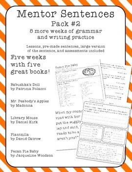 Mentor Sentences - Five More Weeks - Pack 2