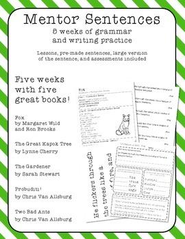 Mentor Sentences - Five Weeks