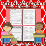 Mentor Sentences:  Formal and Informal Speech