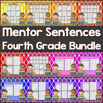 Mentor Sentences {Fourth Grade Bundle} Printable and Google Apps Versions