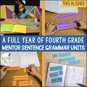 Mentor Sentences Grammar Notebook Bundle - A Full Year of Mentor Sentences!