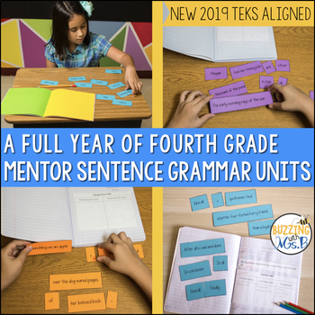Mentor Sentences Grammar Notebook Bundle - A Full Year of Mentor Sentences!