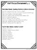 Mentor Sentences Grammar Notebook TEKS and STAAR Alignment Document