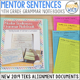 Mentor Sentences Grammar Notebook TEKS and Texas Writing Test Alignment Document