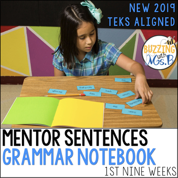 Mentor Sentences Grammar Notebook for the first nine weeks