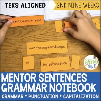 Mentor Sentences Grammar Notebook for the second nine weeks