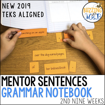 Mentor Sentences Grammar Notebook for the second nine weeks