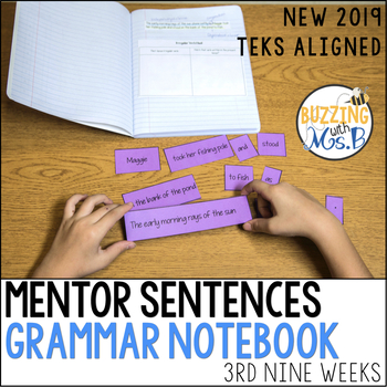 Mentor Sentences Grammar Notebook for the third nine weeks (Spelling & Review)