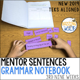 Mentor Sentences Grammar Notebook for the third nine weeks