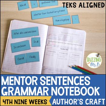Mentor Sentences Grammar Notebook - fourth nine weeks (Figurative Language)