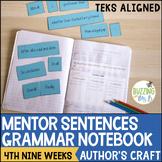 Mentor Sentences Grammar Notebook - fourth nine weeks (Fig
