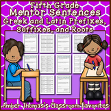 Mentor Sentences: Greek and Latin Roots, Prefixes and Suffixes {Fifth Grade}