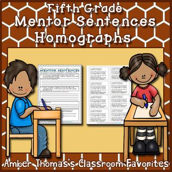 Mentor Sentences:  Homographs {Fifth Grade}