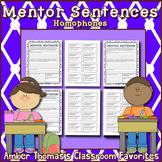 Mentor Sentences:  Homophones {4th Grade}