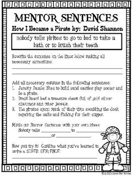 Mentor Sentences - How I Became a Pirate