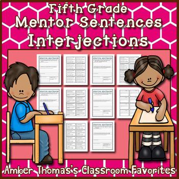 Mentor Sentences: Interjections {Fifth Grade}