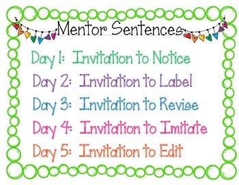 Mentor Sentences Invitation Sign