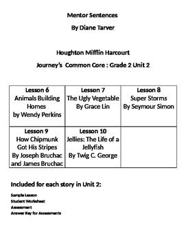 Mentor Sentences Journeys Grade 2 Unit 2