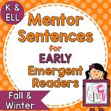 Mentor Sentences Mini-Unit: Fall/Winter Seasonal Books - Early Emergent Readers