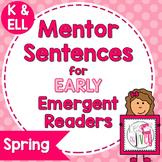 Mentor Sentences Mini-Unit: Spring Books for Early Emergen
