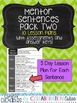 Mentor Sentences Pack Two {10 Weeks of Lessons and Assessments}