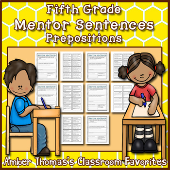 Mentor Sentences: Prepositions {Fifth Grade}