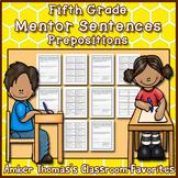 Mentor Sentences: Prepositions {Fifth Grade}