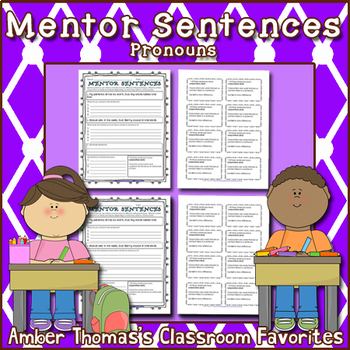 Mentor Sentences:  Pronouns