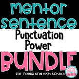 Mentor Sentences Punctuation Power Bundle - Middle and Hig