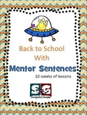 Mentor Sentences Packet - Set 01 - 10 Weeks of Grammar Plans with Quizzes