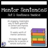 Mentor Sentences Set 1 (Grades 4-6, 10 weeks, Printable an