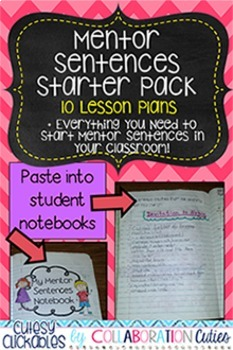 Mentor Sentences Starter Pack {10 Lesson Plans, Assessments, and More!}