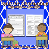 Mentor Sentences:  Synonyms and Antonyms {FREE}