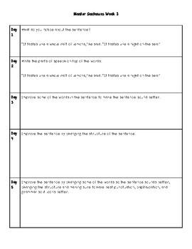 Mentor Sentences Unit 1 Stories that Julian Tells