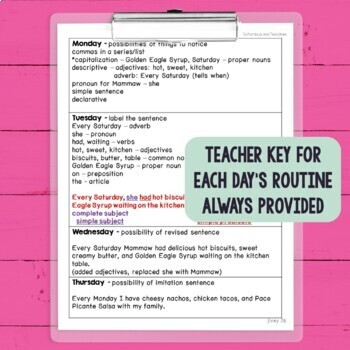 And Worksheets For Kindergarten Mentor Sentences Unit Vol  First  Weeks Grades  By Ideas  Create A Vocabulary Worksheet Pdf with Year 1 Worksheets Literacy Excel Mentor Sentences Unit Vol  First  Weeks Grades  Sentence Structure Worksheets Free