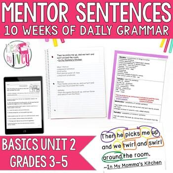 Mentor Sentences Unit: Just the Basics Set 2 (Grades 3-5)