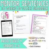 Mentor Sentences Unit: Just the Basics Set 4 (Grades 3-5)