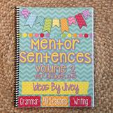 Mentor Sentences (Vol 2) for Grades 3-5 HARD COPY Book