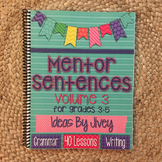 Mentor Sentences (Vol 3) for Grades 3-5 HARD COPY Book