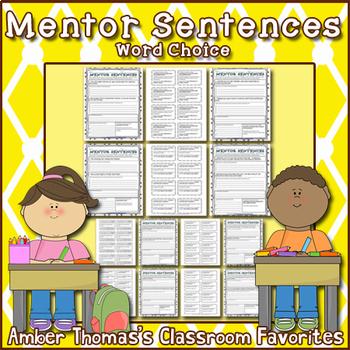 Mentor Sentences:  Word Choice