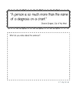 Mentor Sentences for Big Kids: interactive Notebook Pages