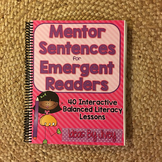 Mentor Sentences for Emergent Readers (K-1) HARD COPY Book