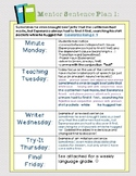 Mentor Sentences from Esperanza Rising: 3 Week Bundle!