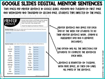 Mentor Sentences for Middle School Grammar 6th, 7th, 8th CCSS Aligned {BUNDLE}