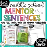 Mentor Sentences for Middle School Grammar 6th, 7th, 8th CCSS {Quarter 1}