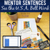 Bell-Ringers for Middle School - Month of Travel theme Mentor Sentences for May