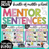 Mentor Sentences for Middle School Grammar 6th, 7th, 8th CCSS TWO VOLUME BUNDLE