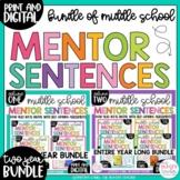 Mentor Sentences Middle School Grammar   6th 7th 8th   CCSS   Two Volume Bundle
