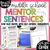 Mentor Sentences for Middle School Grammar 6th, 7th, 8th CCSS Aligned {Qtr. 4}